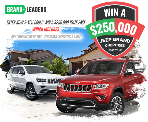 Win $250,000 Jeep Grand Cherokee Prize Pack